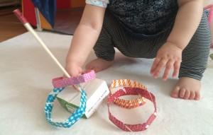 赤ちゃん 手作り おもちゃ 牛乳パック 輪投げ