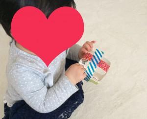 赤ちゃん 手作り おもちゃ 牛乳パック