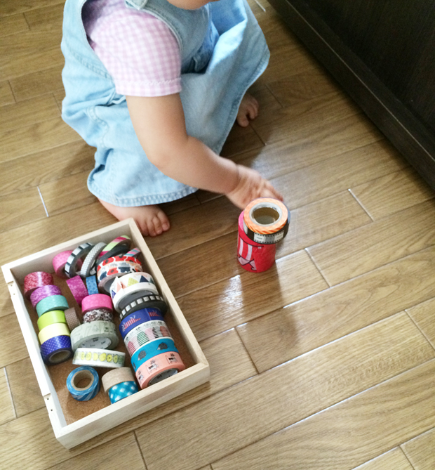 赤ちゃん おもちゃ マスキングテープ 積木 作らない